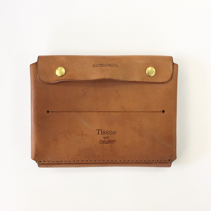 Hachigahana Leather Tissue Case and Other Case