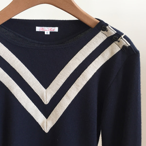 Haversack Plain Stitch Sweater Navy (Women)