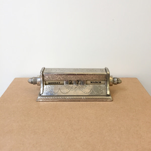 Vintage Desktop Rolling Calendar Made in England