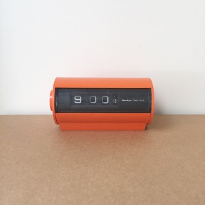 Mid Century Sankyo Digital Clock Orange