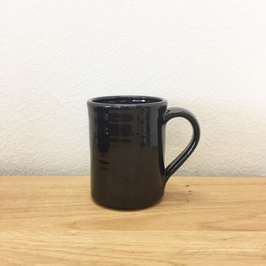 Tender & Co. Coffee Mug Black Glazed Red Clay