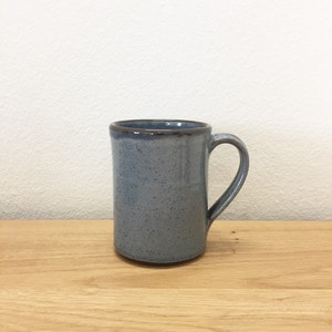 Tender & Co. Coffee Mug Blue-Grey Glazed Red Clay