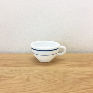 1950's Pyerx Marine Blue Stripe Coffee Cups