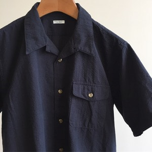 Phigvel Workaday Open Collar Shirt Navy
