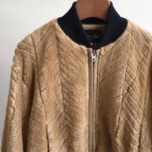 Haversack ATTIRE Herringbone Fur Jacket (Women)