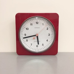 1970's Kienzle Wall Clock Space Age Red