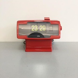 1970's Space Age Copal Leg Flip Clock Red (Deadstock)