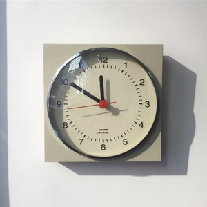 1970's KRUPS Wall Clock Germany Modernist Pop Art Beige