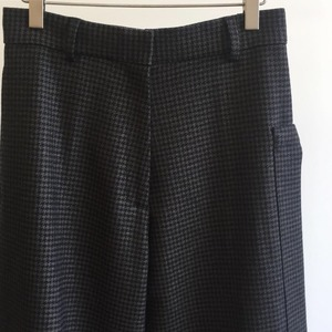 Studio Nicholson Cording Dogtooth Wool Tailored Utility Pants Brown (Women)