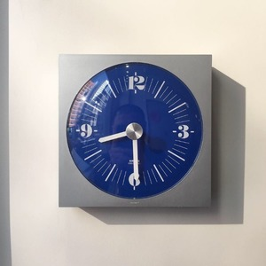 1973 KRUPS Wall Clock Germany Pop Art Blue