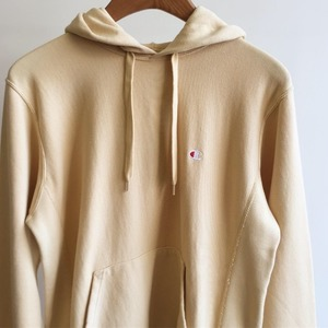 Champion Reverse Weave 10oz French Terry Pullover Hooded Sweatshirt Beige
