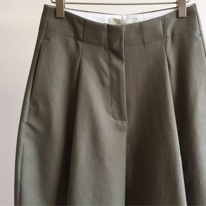 Studio Nicholson Dordoni Volume Pleat Pants Olive (Women)