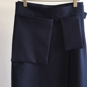 Studio Nicholson Rudd Utility Wrap Skirt Dark Navy (Women)