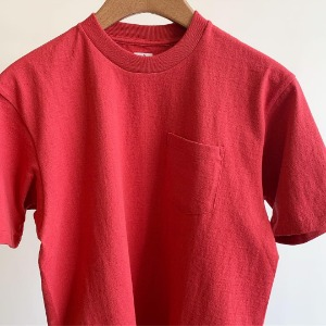 Anatomica Pocket Tee S/S made of USA Yarn Scarlet