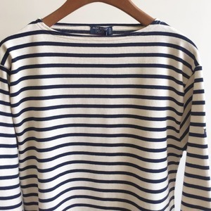 Saint James Guildo Stripe Ecru / Marine
