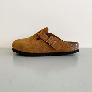 Birkenstock Boston Suede Soft Footbed Mink