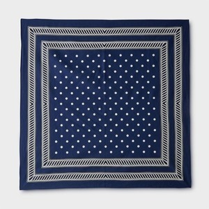 Phigvel Dot Handkerchief Navy