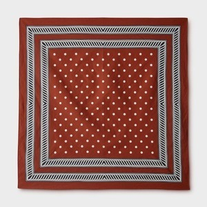 Phigvel Dot Handkerchief Brick Red