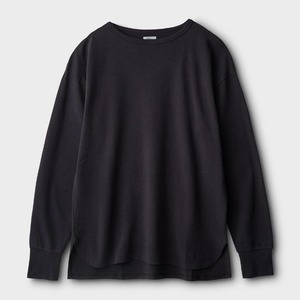Phigvel Boat Neck Long Sleeve Top Graphite