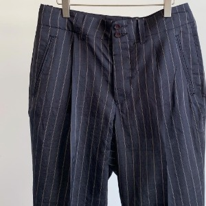 Haversack Pinstripe Silk Pants Black