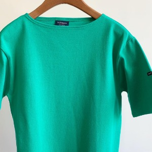 Saint James Guildo Solid Short Sleeve Vert