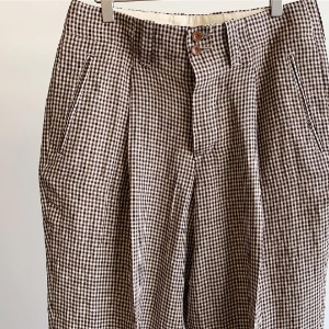 Haversack Gingham Check Work Pants Brown