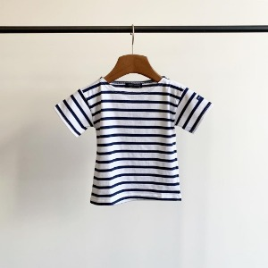 Saint James Levant Stripe S/S Neige / Marine (Toddler & Kid)