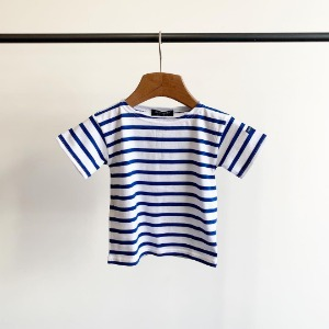 Saint James Levant Stripe S/S Neige / Gitane (Toddler & Kid)