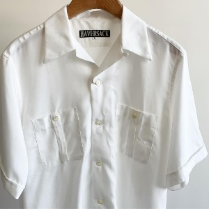 Haversack Lyocell Open Collar Shirts White