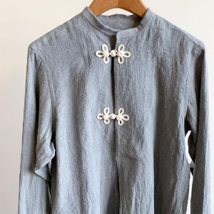 Haversack Sumi-ink Dyed Linen Shirt Grey