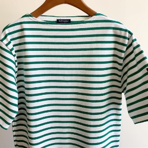 Saint James Guildo Stripe Short Sleeve Neige / Jungle