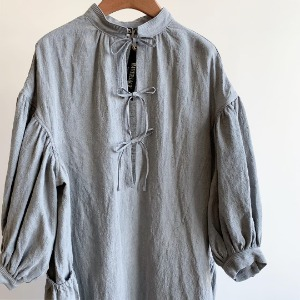 Haversack Sumi-ink Dyed Dress Linen Grey (Women)