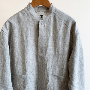 Haversack Linen Top Poplin Work Shirt Jacket Grey (Women)