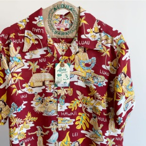 Sun Surf Luau Hawaiian Shirt Wine