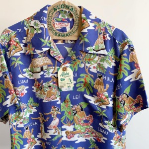 Sun Surf Luau Hawaiian Shirt Blue