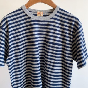 Whitesville Border T-shirt H.Grey x Navy