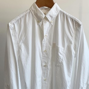 Kaptain Sunshine Big Button-down Shirt White