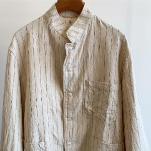Kaptain Sunshine Stand Collar Jacket Pinstripe
