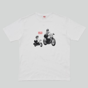 LIFE Archive Motocycle T-shirt White