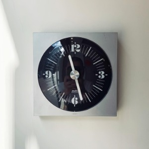 1973 KRUPS Wall Clock Germany Pop Art Black