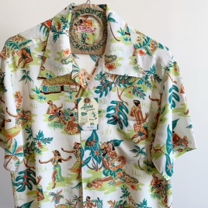 Sun Surf Luau Hawaiian Shirt Off White