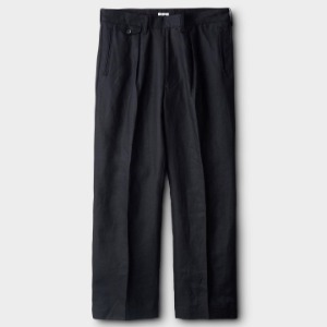 Phigvel Linen Wide Trousers Black