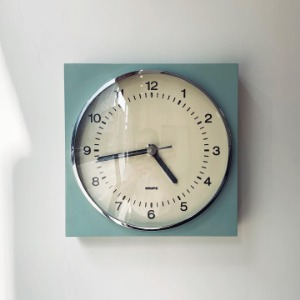 1970's KRUPS Wall Clock Germany Modernist Pop Art Mint