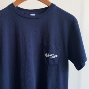 Velva Sheen Logo Pocket T-Shirt Navy