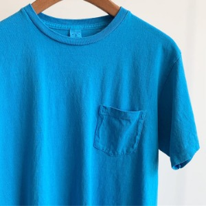 Velva Sheen Pigment Pocket T-Shirt Blue