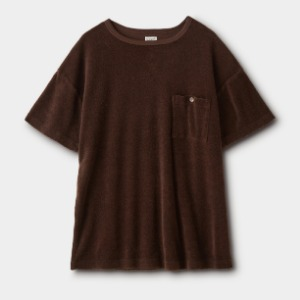 Phigvel Pile Boat Neck Top Stone Brown