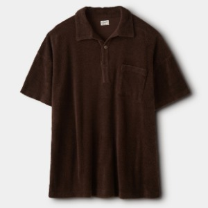 Phigvel Pile Pullover Top Stone Brown