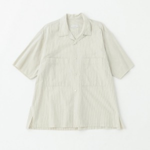 Phlannel Stripe Poplin Open Collar Shirt Yellow Base