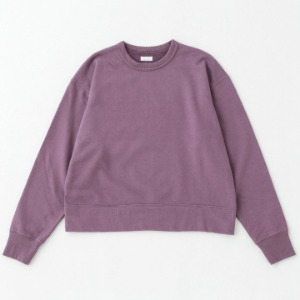 Phlannel Suvin Cotton Sweat Shirt Violet Purple