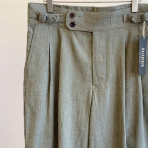 Haversack Selvage Green Denim Gurka Pants